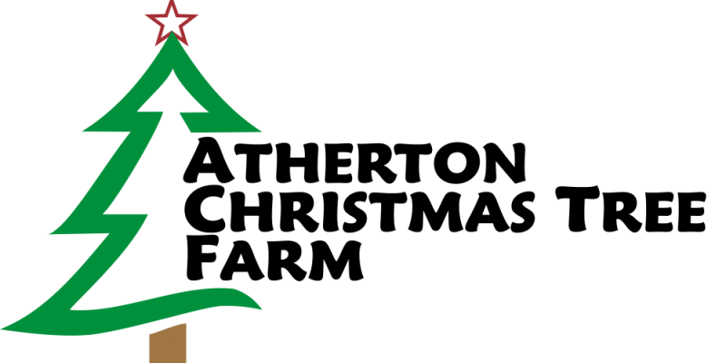 Christmas Tree Farm Logo.Atherton Christmas Tree Farm